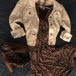 Dresses & Skirts - Brown BOHO dress;M